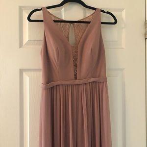 Azazie dusty rose bridesmaid dress